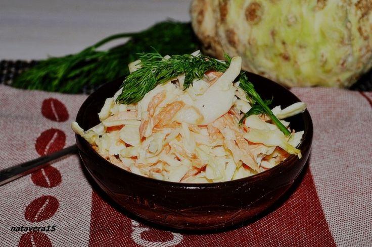салат с капустой и сельдереем
