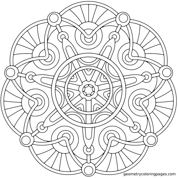 free geometric coloring pages drawing kids