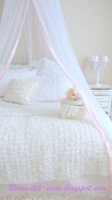 Můj Shabby Chic Home My Romantic Home ~ ~ Romantic Home: Romantické Home: Můj Ložnice - Ložnice-ošumělý-chic white lůžkový pokoj