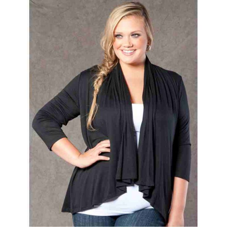 PRE-ORDER - Open Cardigan in Black $44.00 http://www.curvyclothing.com.au/index.php?route=product/product&path=95_98&product_id=7402