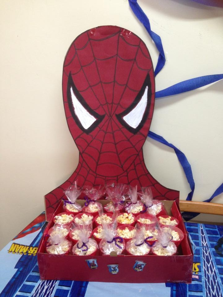 spiderman box for any birthday treats or favours