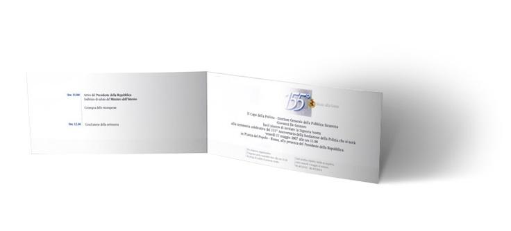 155° Anniversario della Polizia di Stato - invito