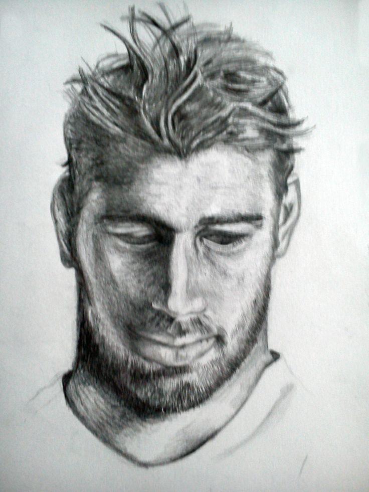 portrait drawing by ilikepencils.co.uk