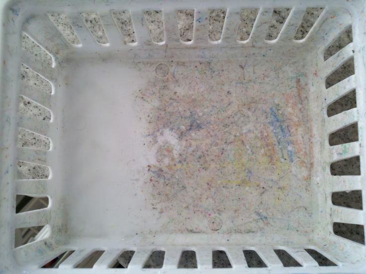Magic Eraser:  Don't throw away throw plastic containers erase the grime away