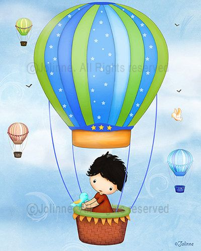 Hot air balloon boys room decor nursery art art for by jolinne, $15.00