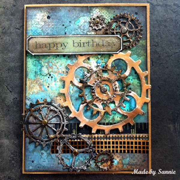 Made by Sannie: Distress it card with video tutorial