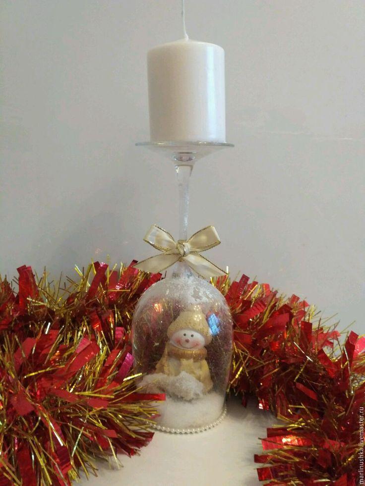 Купить Новогодний подсвечник - новогодний подсвечник, подсвечник, новогодний подарок, подарок на новый год