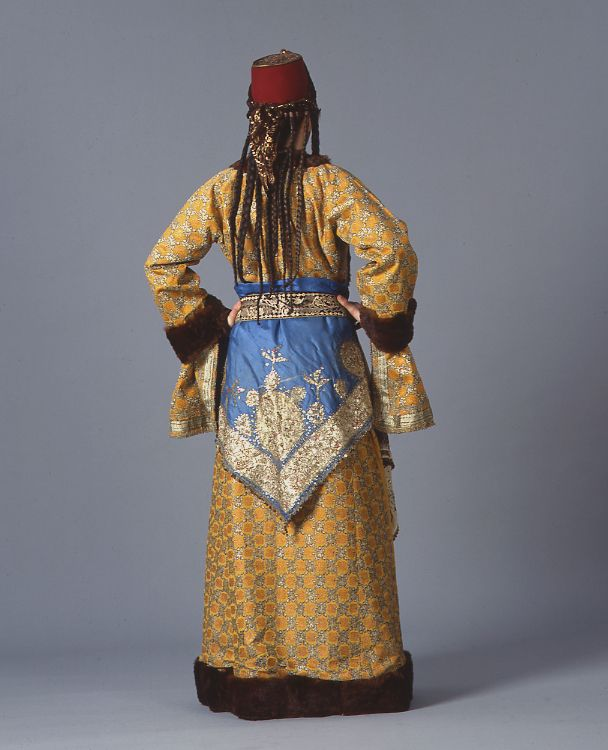 Greek woman's bridal dress from Silli, Ikonion in Asia Minor in the Ottoman fashion styles - 1900