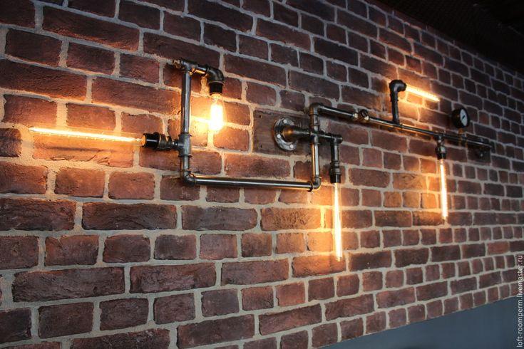 Купить Светильник настенный для Лофт интерьера - лофт, винтаж, интерьер, ретро стиль, лампа эдисона