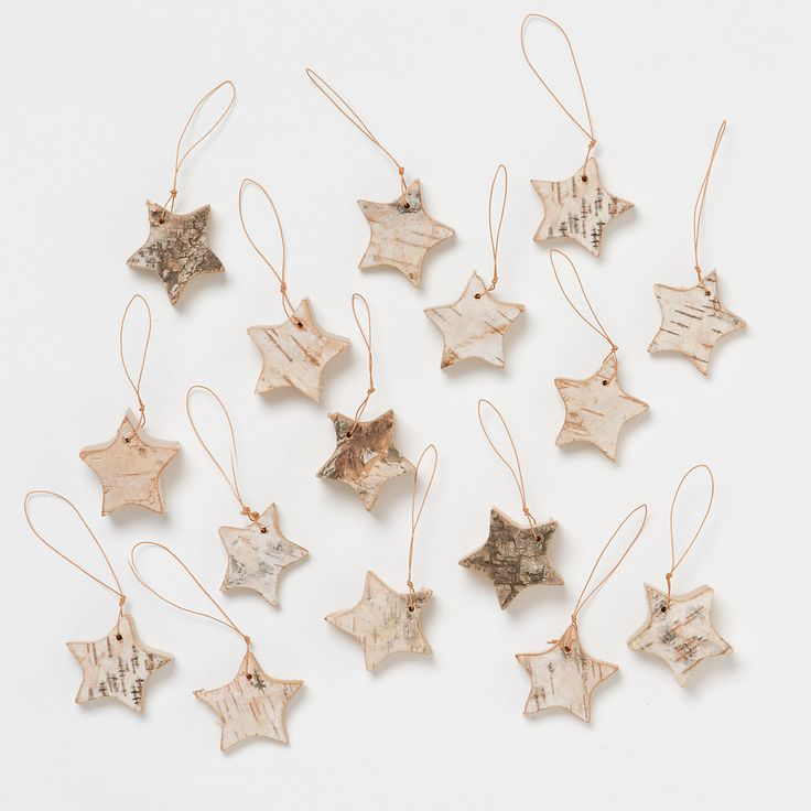 Birch Star Ornaments in New SHOP Holiday Preview at Terrain