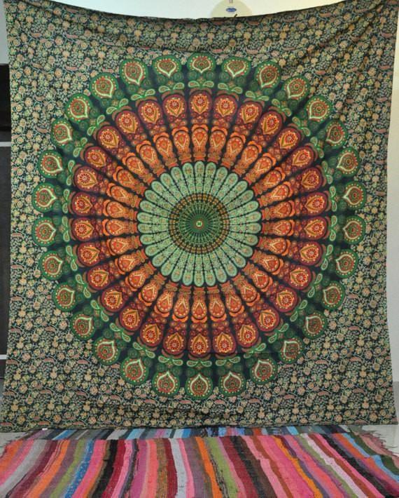 Large Buddhist Mandala Tapestry Bohemian Dorm Room Tapestry Poster