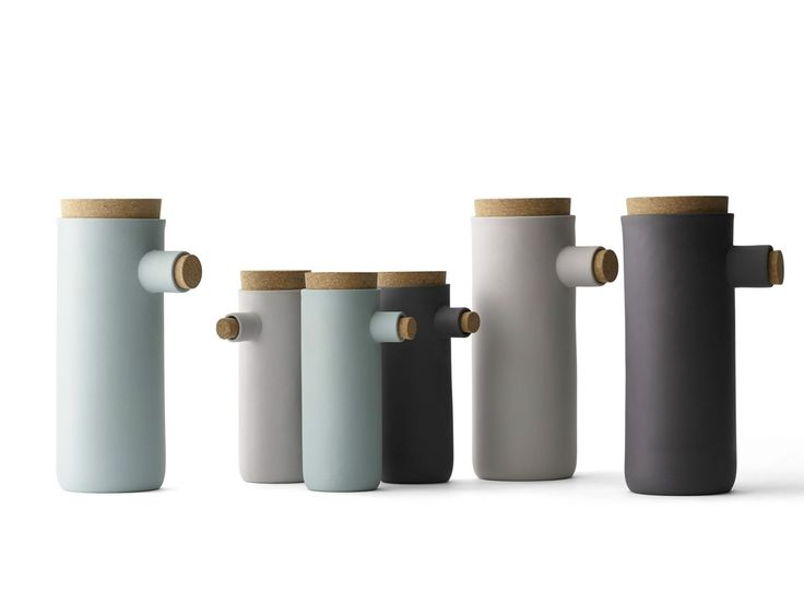 Coloured clay containers SPOONLESS by MENU | design Murken Hansen