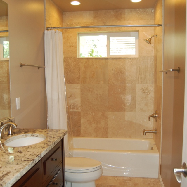 Small Master Bathroom Makeovers: Simple Guest Bath Remodel