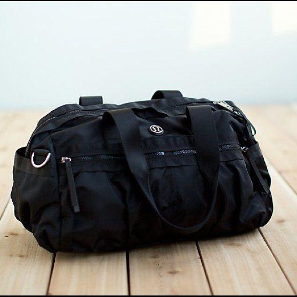 gym to win Lululemon bag blank duffel bag new black bag lululemon athletica Bags