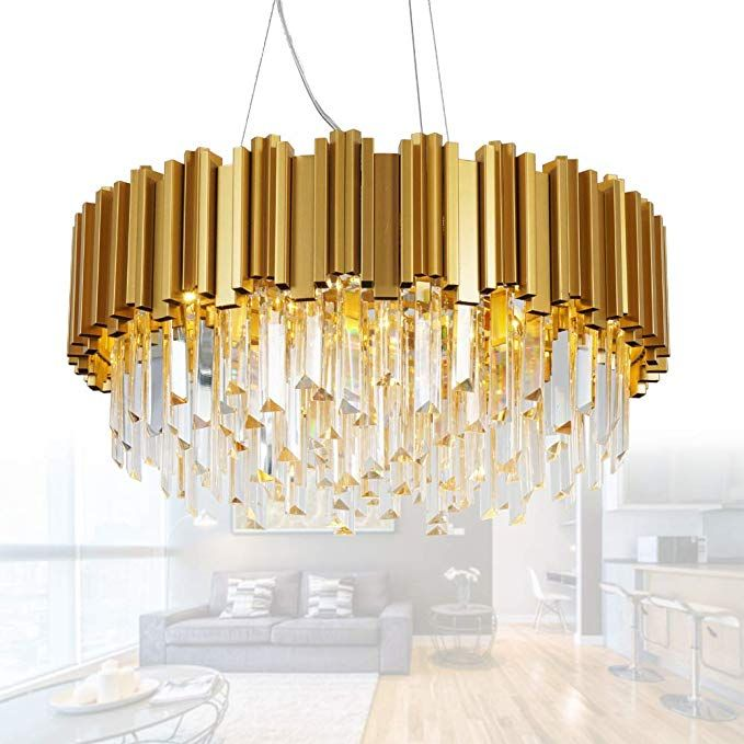 Amazon Com Meelighting Crystal Chandeliers Modern Contemporary Ceiling Lights Fixtures Modern Chandelier Modern Crystal Chandelier Contemporary Ceiling Light
