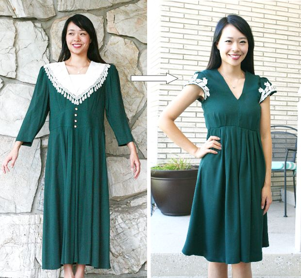 Life is Beautiful: DIY: Grandma vintage dress refashion