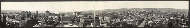 Panorama of Scranton, 1909.    (In the middle, there's a building with three large arches - that was the original home of St. Thomas College/The University of Scranton.)