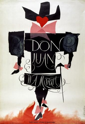 Roman Cieslewicz (1930 - 1996) Don Juan W. A. Mozart 1961