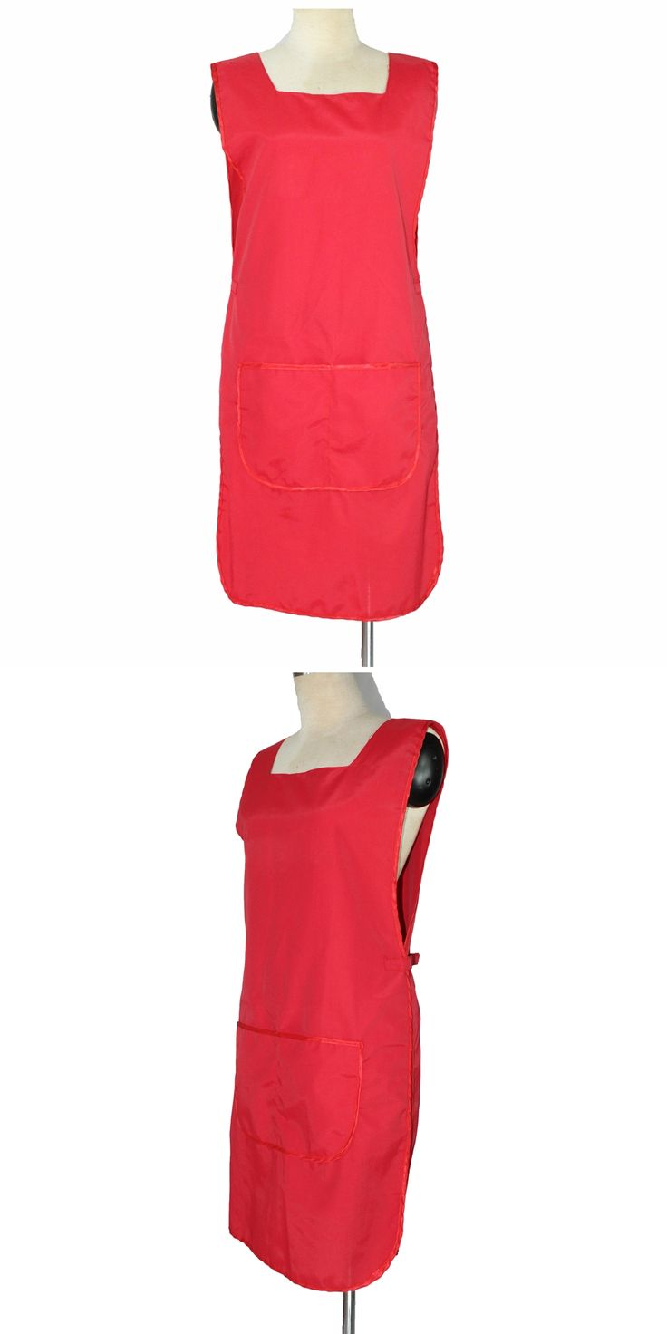 Red Apron For Hairdressing, Nail Art Wroking Apron In Fashion Design, Double Side To Wear Hair Apron For Salon OL-72