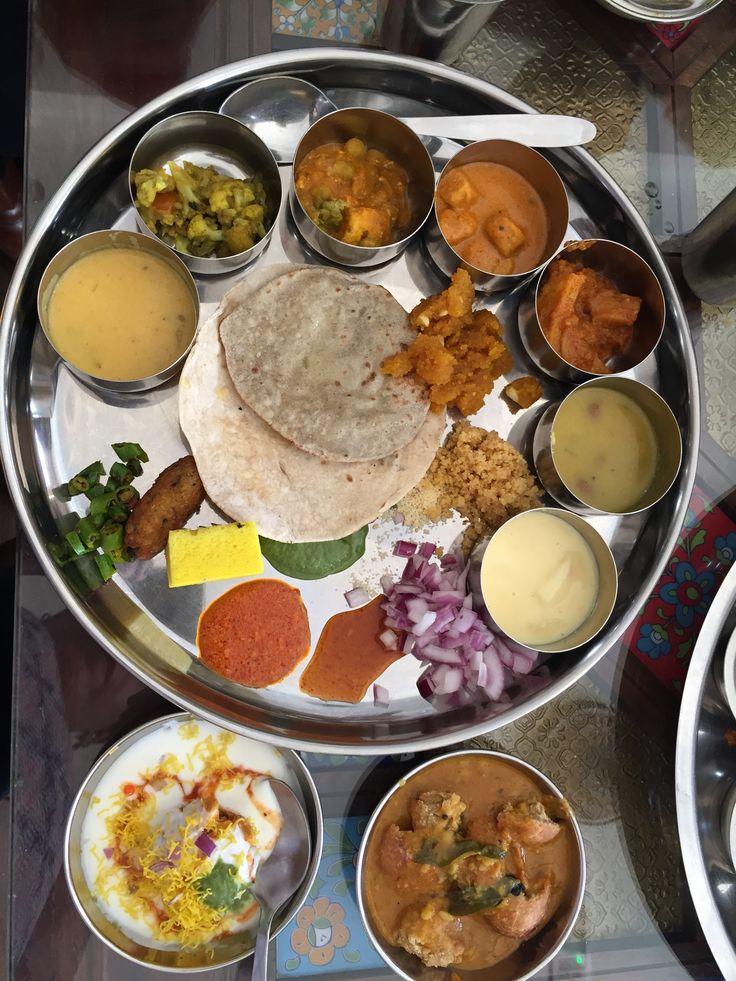 A Rajasthani Vegetarian Thali from Rajasthan Restaurant in Sharjah, UAE