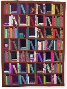 Book Block library quilt