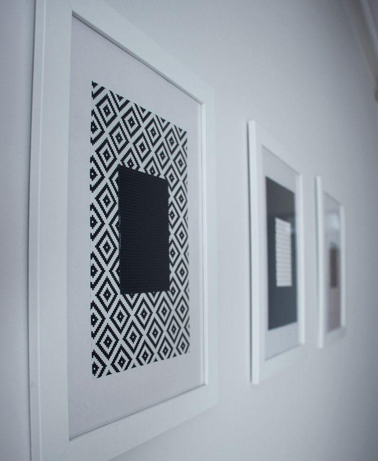 DIY by dekorialove, gallery wall, galeria ścienna, ramki hand made