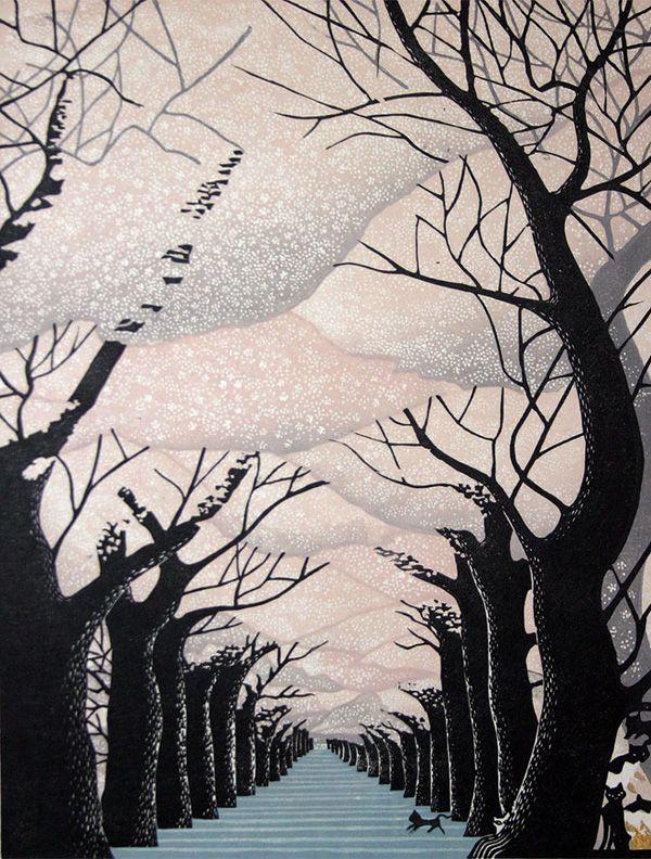 Ray Morimura, Woodblock print.