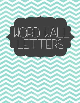 Chevron Word Wall Letters Free Download #chevron #classroom