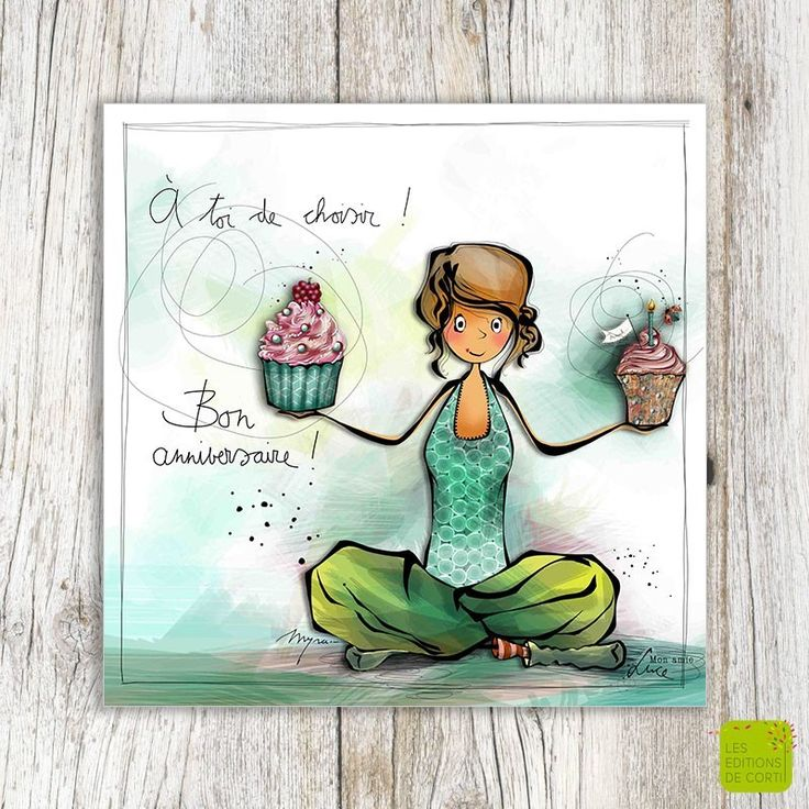 A toi le choix ... Bon anniversaire! - Carte d'anniversaire illustrée par Myra Vienne - www.editionsdecortil.com