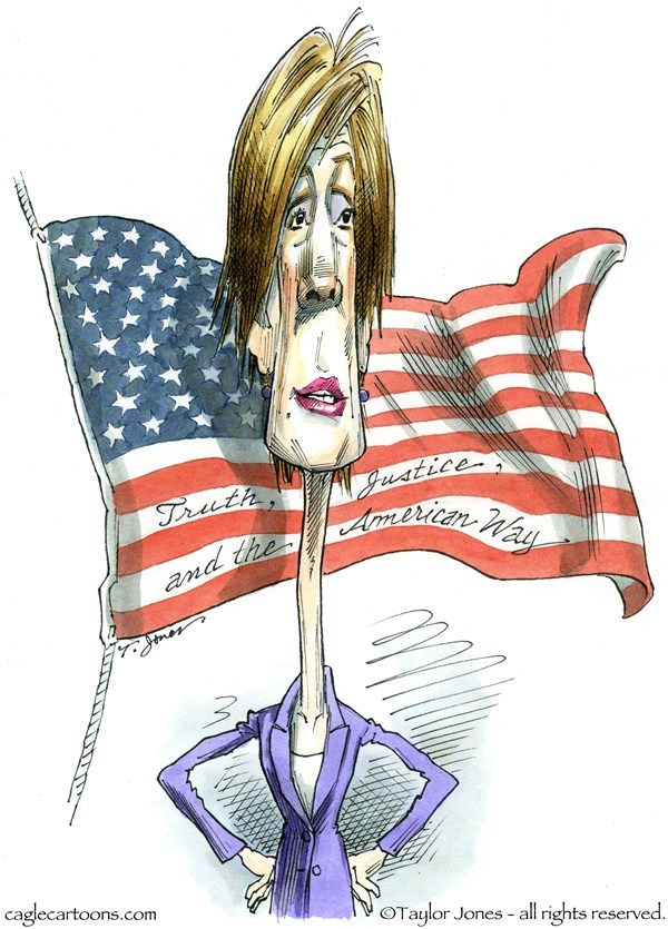 Taylor Jones - Politicalcartoons.com - Sally Yates - COLOR - English - sally,yates,former,deputy,attorney,general,obama,administration,justice,department,national,security,advisor,michael,flynn,donald,trump,russian,hacking,2016,presidential,election,whistleblower,blackmail,compromised