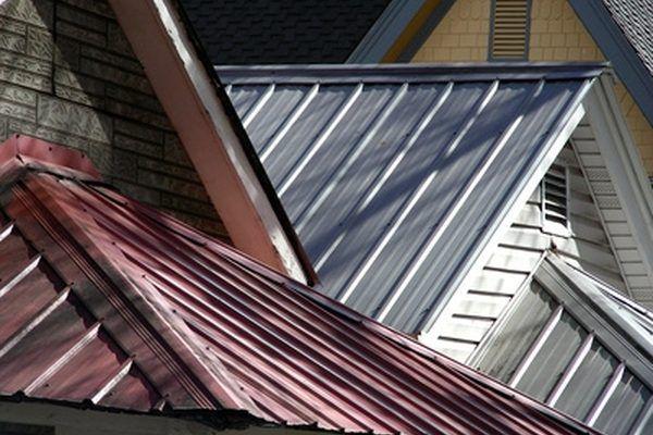 Standing seams in metal roof installation #RoofingMaterials