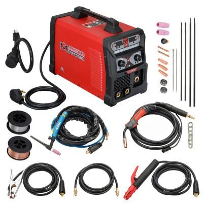 Amico Power 185 Amp Mig Wire Feed Flux Core Tig Torch Stick Arc Welder Weld Aluminum With 2t 4t 110 Volt 230 Volt Welding Mts 185 Arc Welders Welding Table Tig Torch
