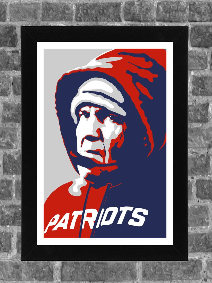 New England Patriots Bill Belichick Portrait Sports Print Art 11x17 by FanFourLife on Etsy https://www.etsy.com/listing/240558350/new-england-patriots-bill-belichick
