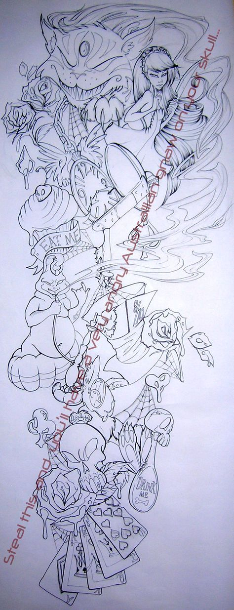 Malicious Alice Tattoo Lines by =Asher-Bee on deviantART