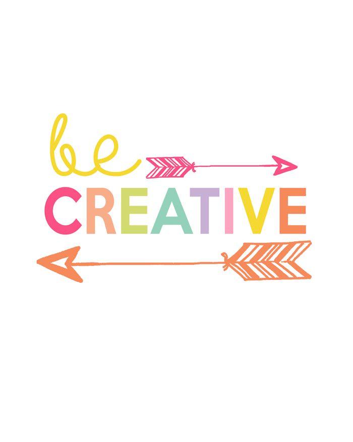 Be Creative Printable   Day 4 Kids Prints Series - The Girl Creative