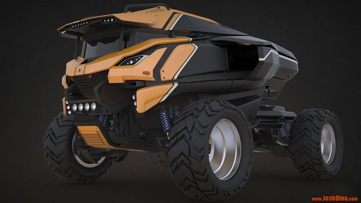 Scifi Concept Truck, Josh Dina on ArtStation at https://www.artstation.com/artwork/scifi-concept-truck-b890ef6e-397f-435e-b10e-76eab0ceb86a