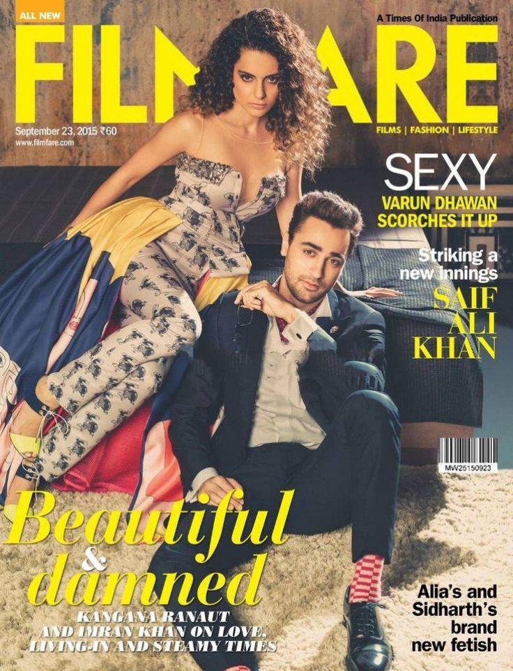 Kangana Ranaut and Imran Khan Photoshoot For Filmfare Magazine (September 2015)