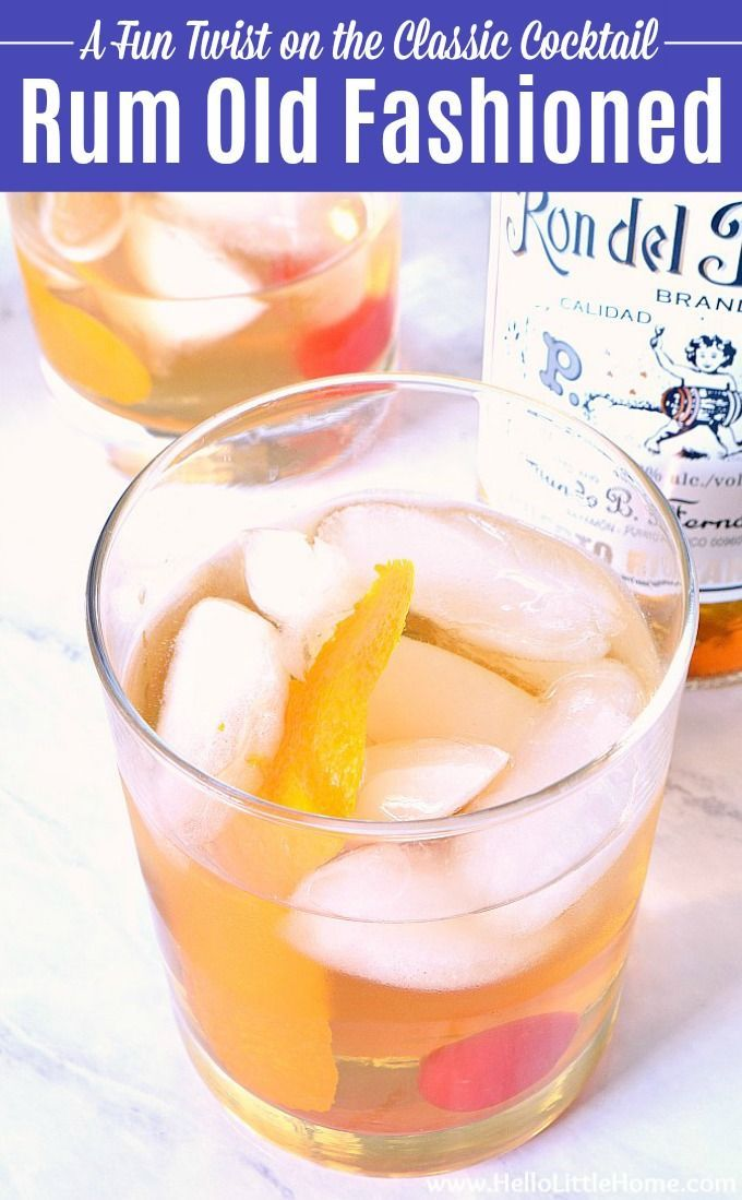 This Rum Old Fashioned Recipe Is A Fun Twist On The Clic Tail Make Drink From Simple