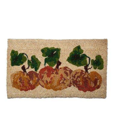 Love this Pumpkin Coir Rug on #zulily! #zulilyfinds