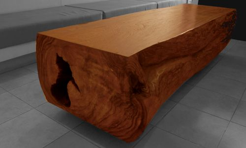Top 25 ideas about wood block furniture ideas on pinterest for Solid block wood coffee table