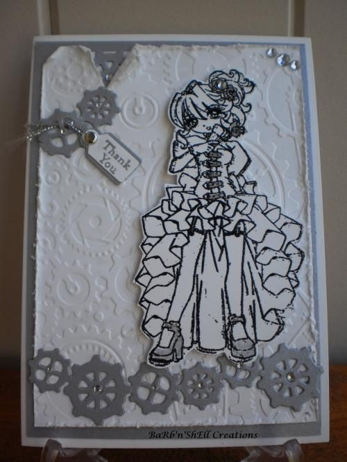 Wedding Card - Bridesmaid - Steampunk - Elizabeth J