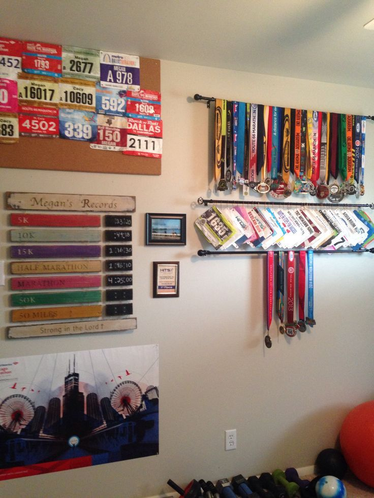 How to display your race bibs and medals!- Megan Mayer Fitness -