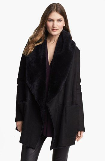 Vince Genuine Shearling Open Front Coat available at #Nordstrom