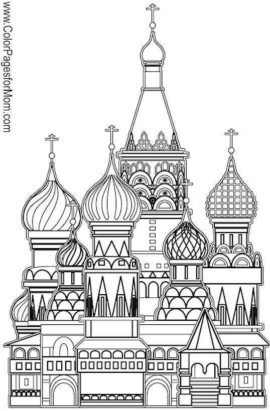 """Church Coloring Page 11 