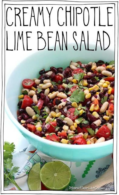 Creamy Chipotle Lime Bean Salad