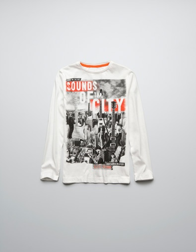 GUITAR-PRINT T-SHIRT - T-shirts - Boy (2-14 years) - Kids - ZARA United States