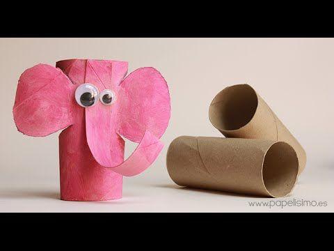 """Elefante con rollos de papel higiénico """"Me gusta reciclar"""" - PAPELISIMO"""