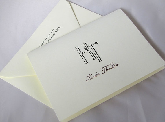 Personalized Monogrammed Stationery Notes GREAT by camispaperie, $16.00