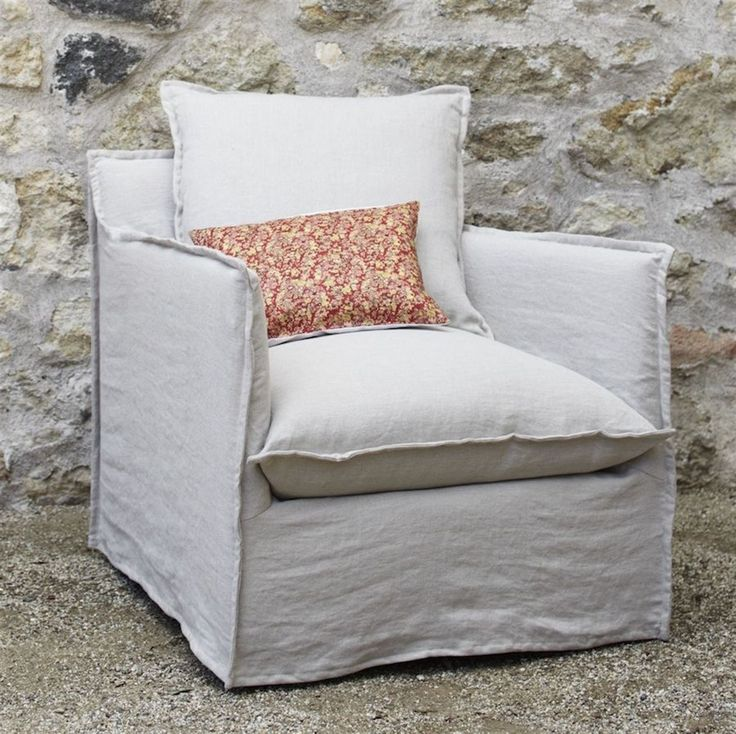 Greenhouse Design Studio Slipcovered Armchair For The
