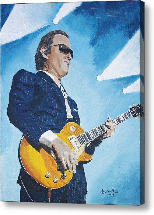 Limited Time Promotion: Joe Bonamassa Stretched Canvas Print
